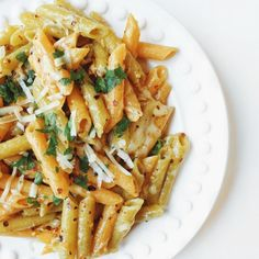 Parmesan Garlic Lentil Pasta - High Protein and Gluten Free Red Lentil Pasta Recipes, Easy Pasta Recipes, Vegetarian Recipes Easy, Healthy Recipes, Vegetarian Dinners, Healthy Dinners, Healthy Eats, Cooking Recipes, Edamame
