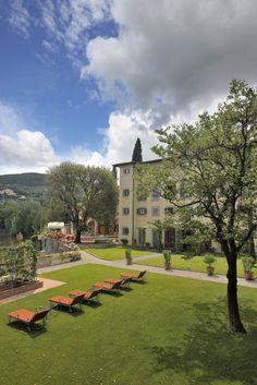 Villa La Massa: Garten vor Villa la Massa