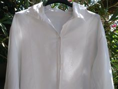 Victorian fleece winter shirt. French Handmade white cotton front embroidered…