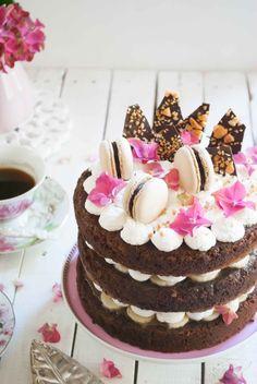Banoffee layer cake. Vía Mega Silvita