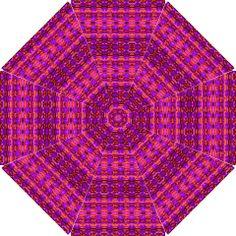 """Purple and Orange Kaleidoscope"" Umbrella Design by khoncepts.com, Hook Handle Umbrella (Large)  $44.99"