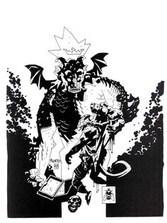 dwayne bell: tonight I'm all about... Mike Mignola & hellboy
