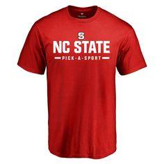 NC State Wolfpack Custom Sport Wordmark T-Shirt - Red