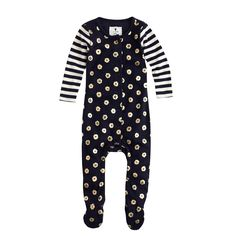 Baby footsie coverall in flower stripe - coveralls - Baby's Baby - J.Crew