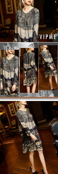 Classy yet lovely shirt dress from VIPme.com for this fall is in hot sale. Don't be hasitated or it will be out of stock very soon. Grab it and enjoy free shipping!