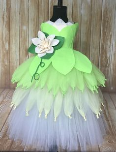 Tiana Tutu, Tiana Tutu Dress, Princess and the Frog Tutu Costume, Princess Tiana Costume