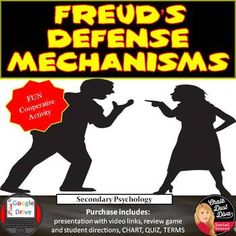 Are you looking for a fun and interactive way to teach your Psychology students about Freud's defense mechanism's? This activity is will do just that! This lesson will begin with a brief review of Freud's defense mechanisms. Students will then watch an entertaining video that describes each defense mechanism: Repression, Reaction Formation,