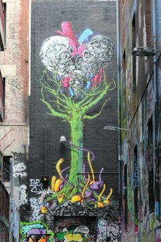 """Unknown Artist :""""Hosier Lane, Melbourne"""""""