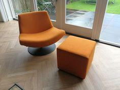Jazz orange met hocker Danzig, Floor Chair, The Hamptons, Flooring, Furniture, Type, Design, Home Decor, Stool