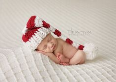 Your little one will be ready for the Holidays wearing this festive Santa Hat! It is crocheted with lots of love and care by me.  Your Santa Hat is crocheted with red and white yarn. It will ship from a smoke free home.  Thanks so much for visiting Violets Playground 💗