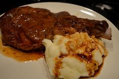 Ribeye with Cabernet Sauce and Truffle Sea Salt Mashed Potatoes