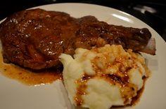 Ribeye with Cabernet Sauce and Truffle Sea Salt Mashed Potatoes