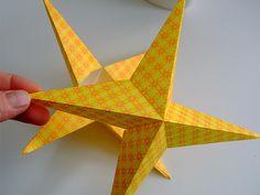 Estrellas de papel ¡fácil!