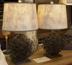barbed wire lamps...that's different...DIY??
