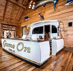 Man cave made from boat parts (Cool Rooms Man Caves) Deco Marine, Design Loft, Design Design, Man Cave Garage, Boat Parts, Cool Rooms, Bars For Home, My House, Backyard
