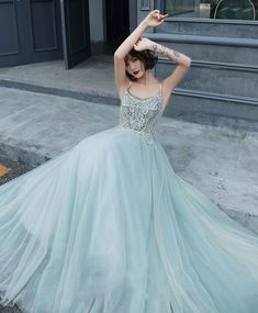 High Low Prom Dresses, Prom Dresses Blue, Homecoming Dresses, Formal Dresses, Prom Gowns, Green Evening Dress, Lace Evening Dresses, Tulle Lace, White Tulle
