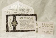 Inspired by Nature Bar Mitzvah Invitation