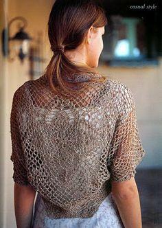 Crochet shrug with chart