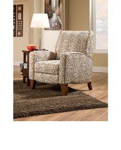 Fabric push back recliners