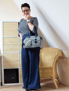 Ringelshirt mit Matrosen Hose im Rockabilly Style