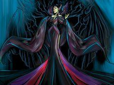 Sleeping Beauty Maleficent, Disney Sleeping Beauty, Arte Disney, Disney Theme, Disney Princess Art, Disney Fan Art, Maleficent Drawing, Official Disney Princesses, Fantasy Female Warrior