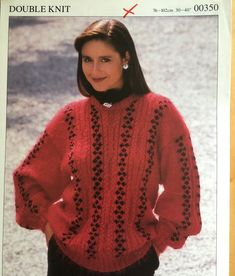 Excited to share this item from my #etsy shop: Vintage Ladies Cable Jumper Pattern Jumper Patterns, Knitting Patterns, Vintage Knitting, Double Knitting, 1980s, Vintage Ladies, Cable, Turtle Neck, Etsy Shop