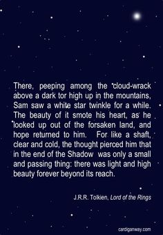 Beautiful. Tolkien was truly a genius.