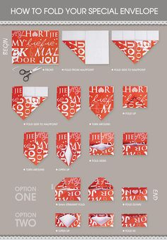 Create your own envelope! Link doesn't work, just look at pic. Printable Valentines Day Cards, Valentine Day Special, Lovey Dovey, Valentine's Day Diy, Folded Up, Diy Cards, Free Printables, Create Your Own, Envelope