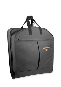 Get there in one piece. Clothes stay neat and wrinkle-free in this lightweight and easy to carry-on Tennessee Volunteers garment bag with WallyLock hanger clamp. The Wally clamp holds up to six or more garments and your clothes won't fall to the bottom of the bag. Durable 600 denier polyester is water repellent, providing all weather protection.     •    40-in. x 22-in. x 3-in.  •    Full length center zipper for easy access  •    Two pockets have room for sh...