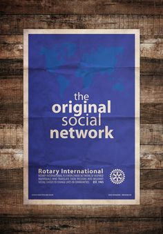 #Rotary – The Original Social Network Minimal Art Poster