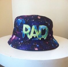 Purple Galaxy Bucket Hat by ALIENSofBROOKLYN on Etsy, $45.00