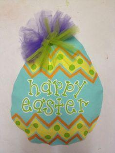 Easter Burlap Door Hanger