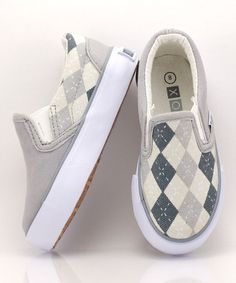 Take a look at this Gray & Black Preppy Slip-On Sneaker by XOLO Shoes on #zulily today!