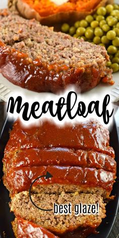 Best Meatloaf Recipe Classic Meatloaf recipe with a sweet and tangy bbq glaze. This Perfect Meatloaf is tender, flavorful, and better than you remember from childhood, give it a try tonight! Easy Meatloaf Recipe With Bread Crumbs, Classic Meatloaf Recipe, Good Meatloaf Recipe, Meat Loaf Recipe Easy, Best Meatloaf, Meat Recipes, Crockpot Recipes, Cooking Recipes, Barbecue Meatloaf Recipes