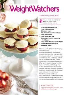 At only 3 #ProPoints p/serve our Strawberry Shortcakes are the perfect afternoon sweet treat. #sweetooth #cake #weightloss #diet