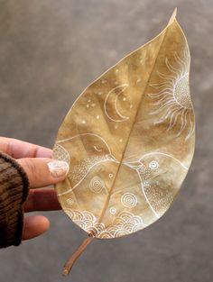 Autumn leaf sketch
