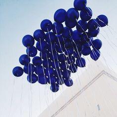 Cobalt blue balloons