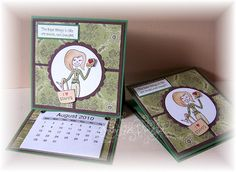Cards Made By Hand Easel Desk Calendar with dimensions