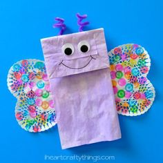 animal crafts for kids I have another fun Paper Bag craft to share with you today. This time we made a colorful paper bag butterfly kids craft, a perfect afternoon craft for sprin Spring Crafts For Kids, Daycare Crafts, Fun Crafts For Kids, Arts And Crafts Projects, Toddler Crafts, Preschool Crafts, Projects For Kids, Craft Kids, Project Ideas