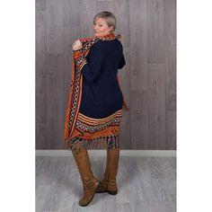 Boho Style Aztec Long Fringed Knitted Jackets Long Fringes, Knitted Coat, T Shirt And Jeans, Bohemian Style, Aztec, Hemline, Boho Fashion, Jackets, Shirts