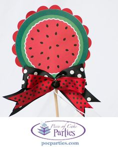 1 hand-crafted watermelon cake topper.