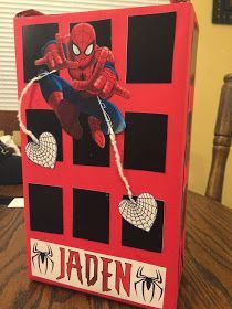 J&J Creative Support: Spiderman Valentine's Day Box