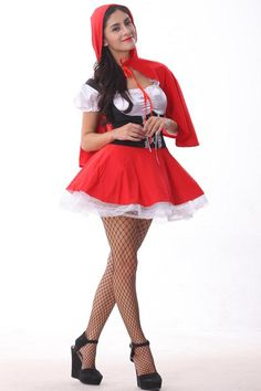 Wholesale Sexy Female Cosplay Costumes Halloween Little Red Riding Hood Cosplay Masquerade Role Play Fancy Disfraces Little Red Riding Hood Halloween Costume, Red Riding Hood Costume, Sexy Halloween Costumes, Halloween Cosplay, White Costumes, Christmas Costumes, Halloween Party, Cosplay Dress, Cosplay Outfits