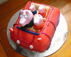 Peppa Pig Car Cake #baking