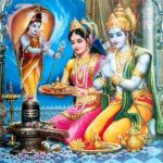Lord Rama and Sita with offering to Lord Shiva Ram Sita Photo, Ram Sita Image, Ram Image, Saraswati Devi, Durga Maa, Happy Ram Navami, Lord Rama Images, Sita Ram, Disney Princess Fashion