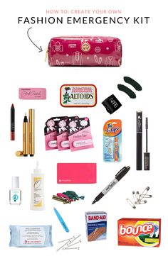 Best Diy Crafts For Teen Girls School Survival Kit School Emergency Kit, Emergency Kit For Girls, Emergency Bag, School Kit, School Hacks, Emergency Preparedness, Girl Survival Kits, School Survival Kits, Survival Supplies