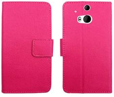myLife Bright Hot Pink {Classic Textured Design} Faux Leather (Card, Cash and ID Holder + Magnetic Closing) Slim Wallet for the All-New HTC ...