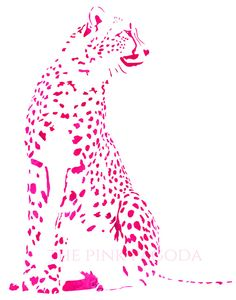 Cheetah in Pink This image will be printed on the heaviest Hahnemule paper which is the highest quality paper available. I use a Canon Pixma