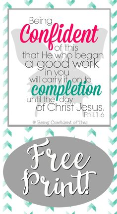 Free visual reminder of your work-in-progress status. Hang it in your war room, beside your bed, on your mirror - wherever you will see it most! free bible verse printable, printables for Christians, encouraging quotes, freebie