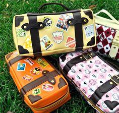 Snoopy! Suitcase Pencil Cases - Vacationer's Suitcase Pencil Pouch    CoolPencilCase.com